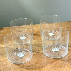 "Crate and Barrel Krosno Crystal ""VINO Wine Glasses"